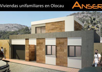 Viviendas unifamiliares en Olocau